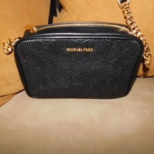 Michael Kors Camera Quilted Detail Black/Gold
